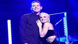 ホールジーとジー・イージー、「サタデー・ナイト・ライブ」で熱々キス